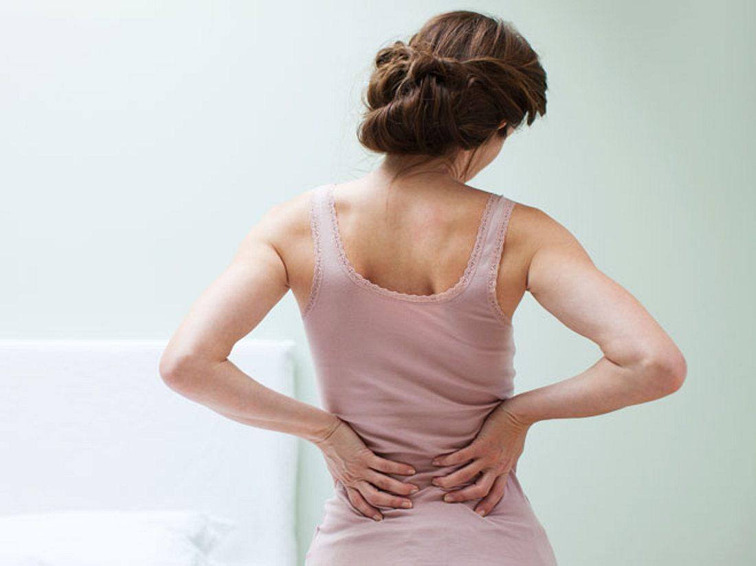 Rückenschmerzen.