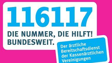Ärztlicher Bereitschaftsdienst 116 117 - Foto: © 2018 KASSENÄRZTLICHE BUNDESVEREINIGUNG (KBV)