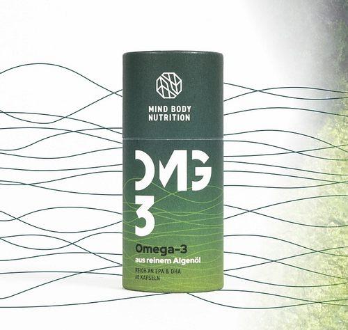 Vegane Omega-3-Kapseln aus reinem Algen-Öl