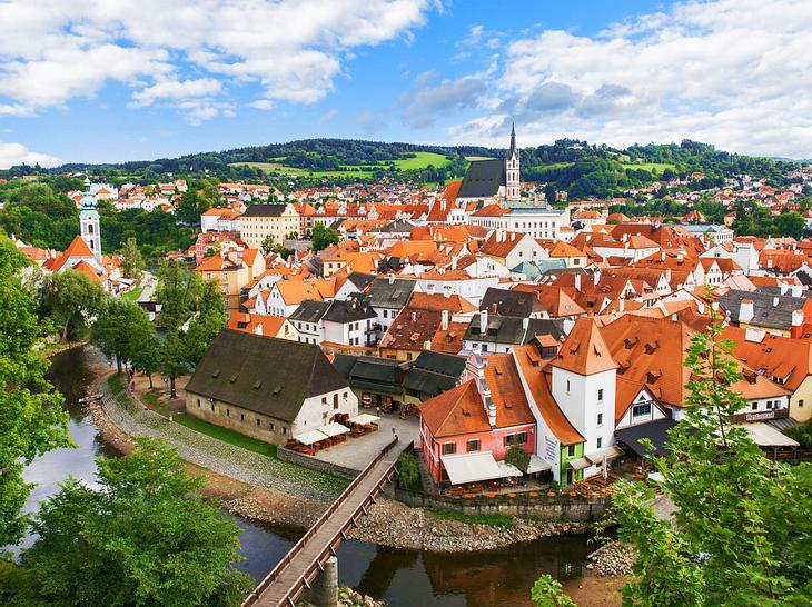 Die alte böhmische Stadt Cesky Krumlov.