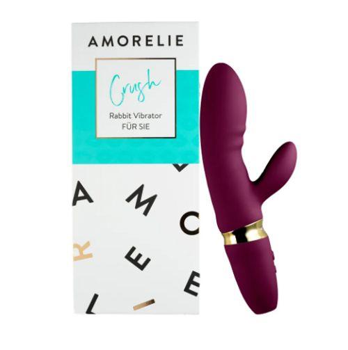 Amorelie Rabbit-Vibrator mit Penisring