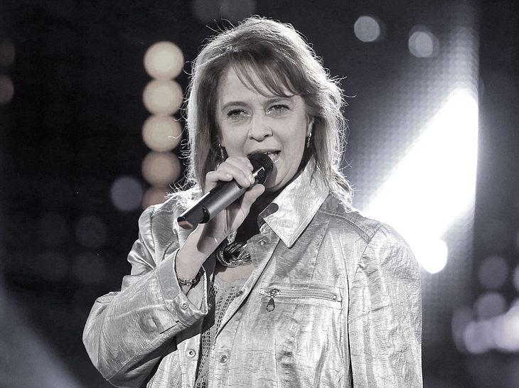 Sängerin Andrea Jürgens im Jahr 2016 bei der Aufzeichnung einer TV-Show.