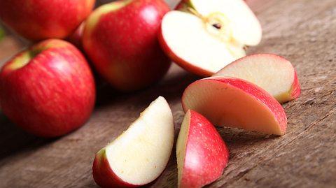 Abnehmen mit der Apfel-Diät.