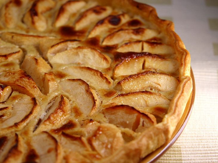 Französische Apfeltarte.