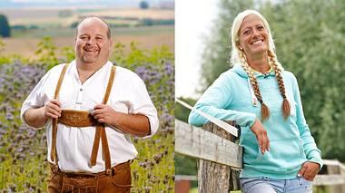 Thomas K. und Denise sind 2020 als Kandidaten bei Bauer sucht Frau dabei. - Foto: TVNOW / Stefan Gregorowius