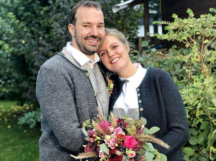 """Christian und Barbara feierten die 32. """"Bauer sucht Frau""""-Hochzeit."""
