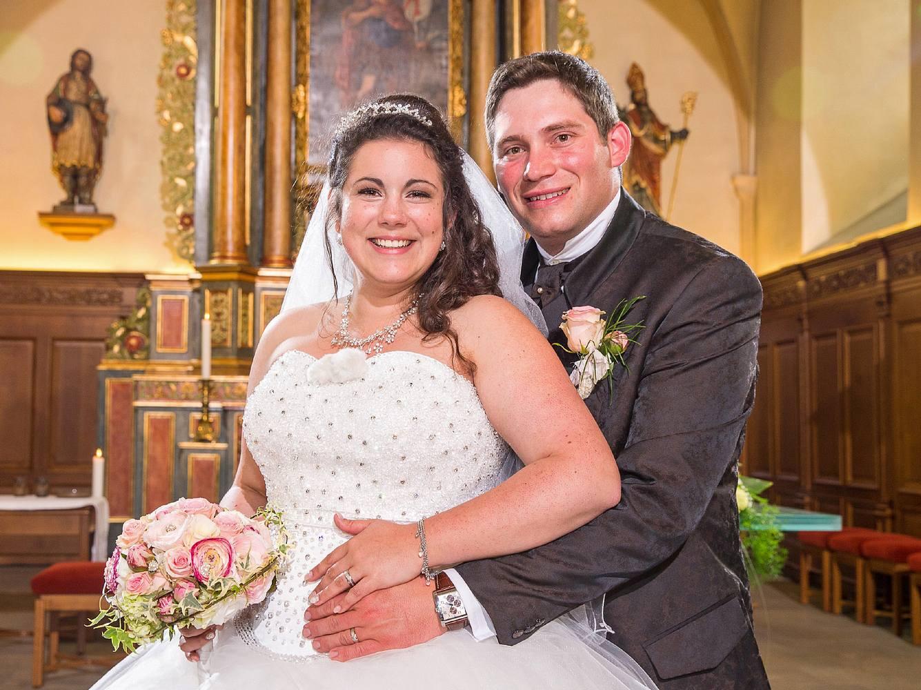 Das 'Bauer sucht Frau'-Paar Guy und Victoria heiratete 2015.