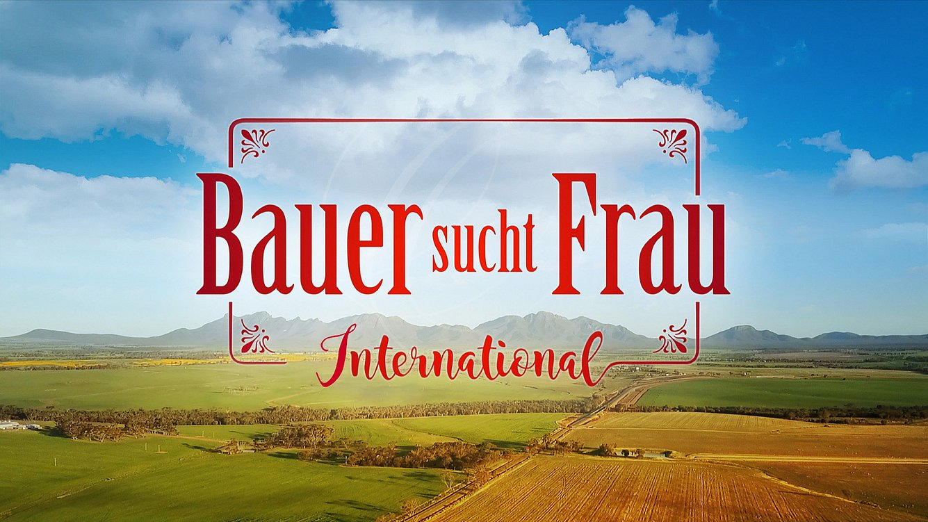 Logo der RTL-Sendung 'Bauer sucht Frau International'.