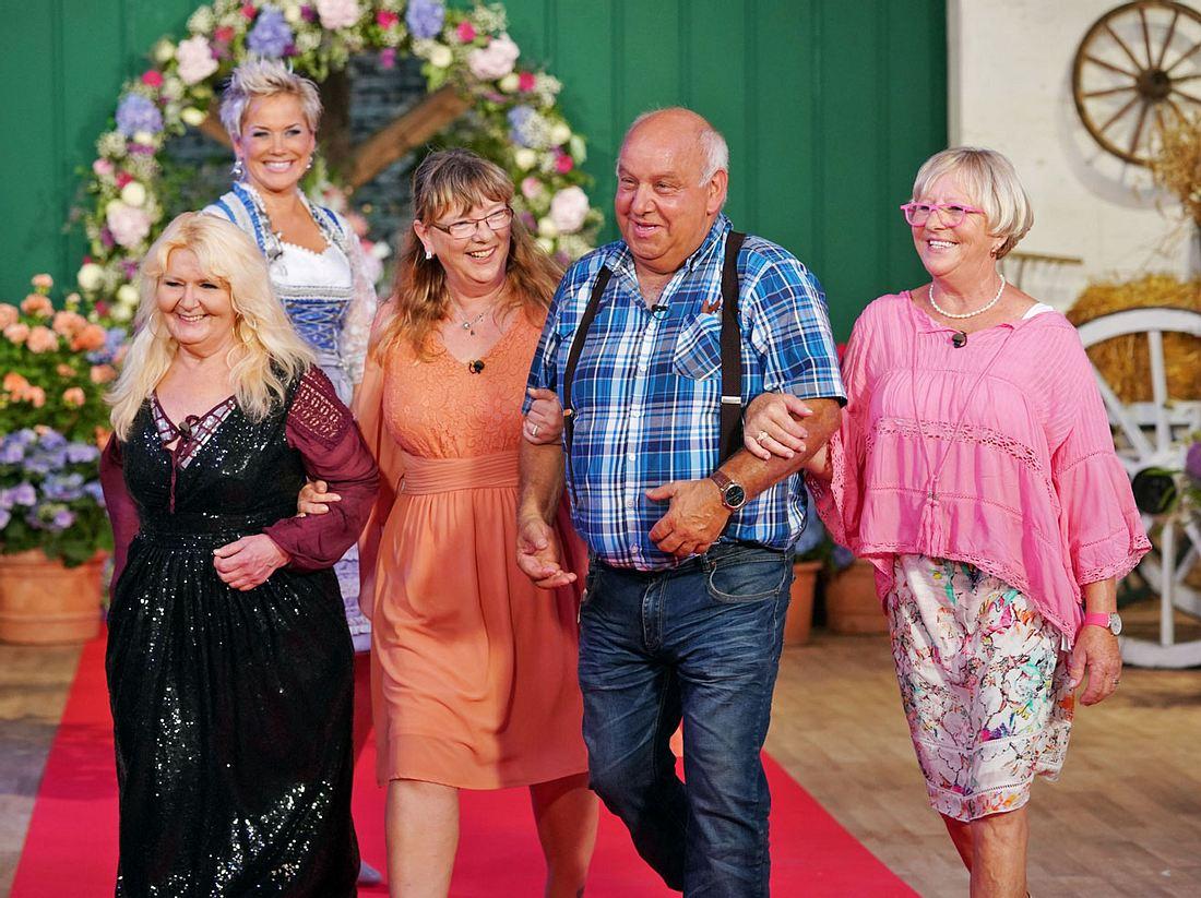 Bei Bauer sucht Frau hatte Jürgen die Frauen Maggie, Kerstin und Corinne zum Scheunenfest eingeladen.