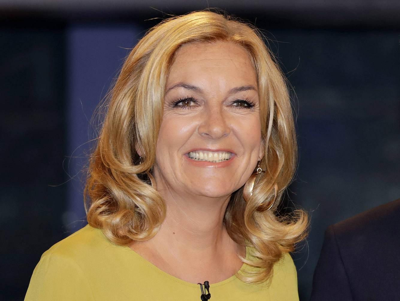 Moderatorin Bettina Tietjen bei einer Aufzeichnung der NDR-Talkshow in Hamburg.