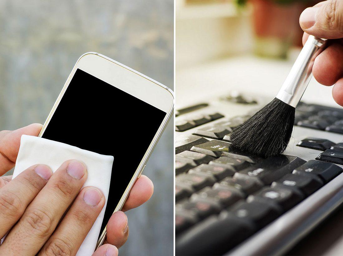 Bildschirm und Tastatur reinigen