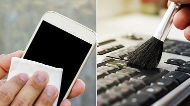 Bildschirm und Tastatur reinigen - Foto: Bebenjy, Diy13 / iStock