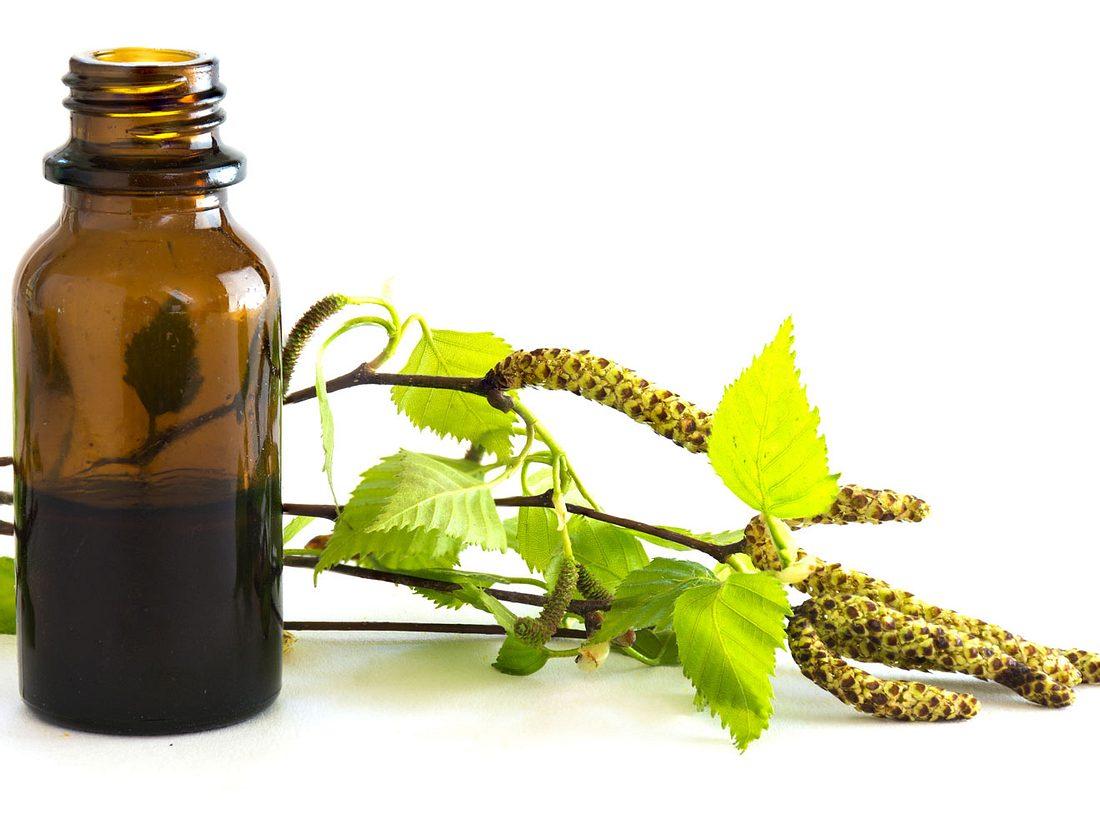 Birkenöl hilft gegen Rückenschmerzen