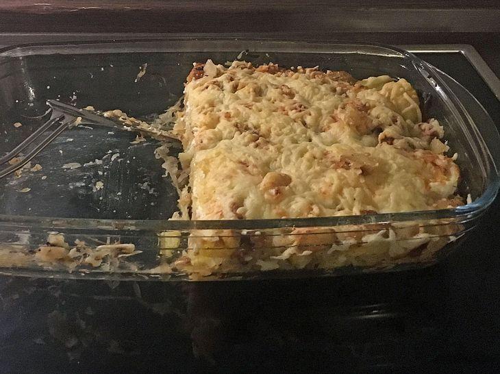 Bratkartoffel-Sauerkraut-Auflauf