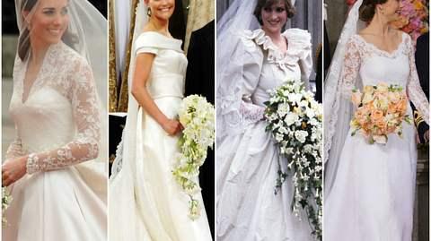 Victoria, Kate Middleton & Co: Die Brautkleider der Royal-Hochzeiten - Foto: Ben Stansall / Torsten Laursen / Anwar Hussein / Andreas Rentz all via GettyImages