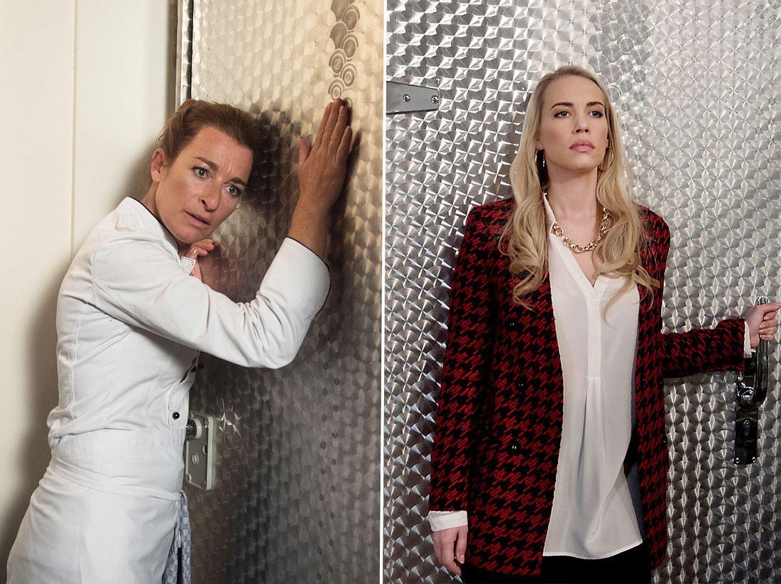 Amelie sperrt Carla in die Kühlkammer