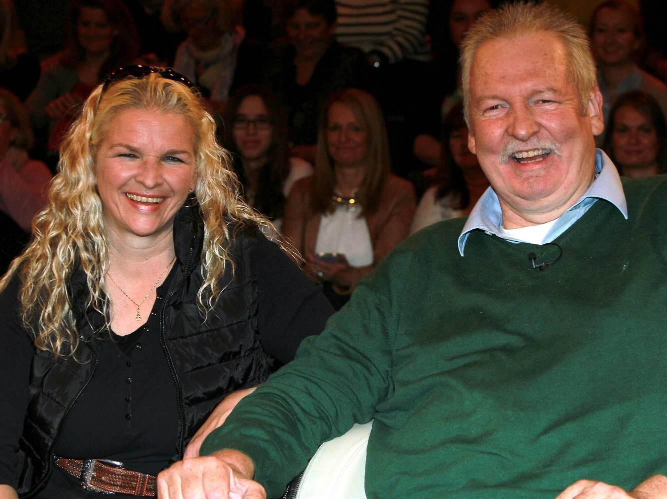 Tamme Hanken Pferde-Chiropraktiker mit seiner Ehefrau Carmen bei Markus Lanz 2015.