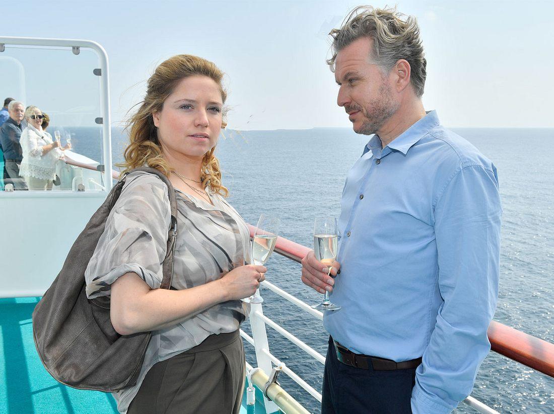 Caroline Frier und Dirk Borchardt auf dem Traumschiff.