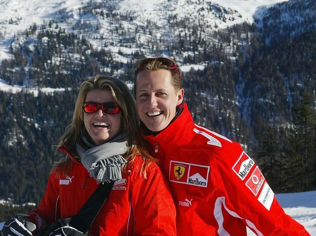 Corinna und Michael Schumacher im Skiurlaub