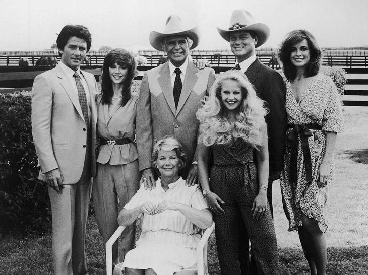 Das waren die Darsteller der Serie Dallas.