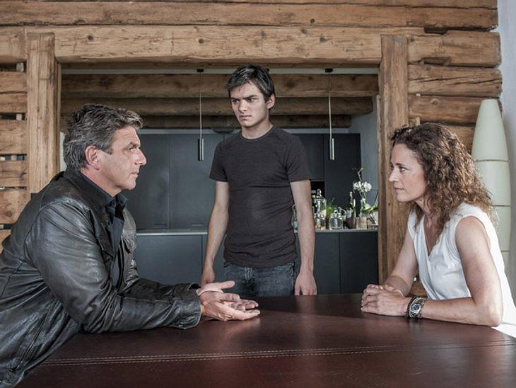 Martin Gruber im Gespräch mit Rike Jäger und ihrem Sohn