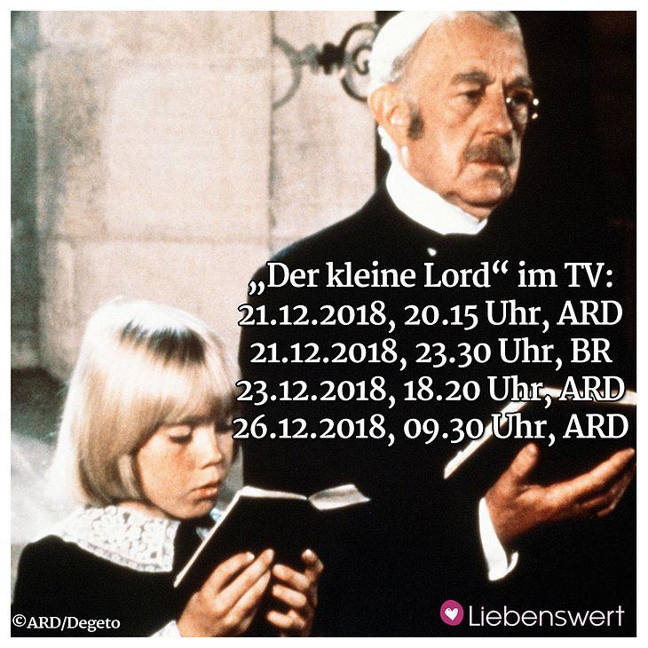 Wann läuft Der kleine Lord 2018 im TV?