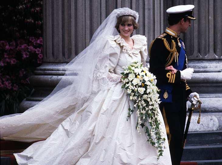 Das Brautkleid von Prinzessin Diana.