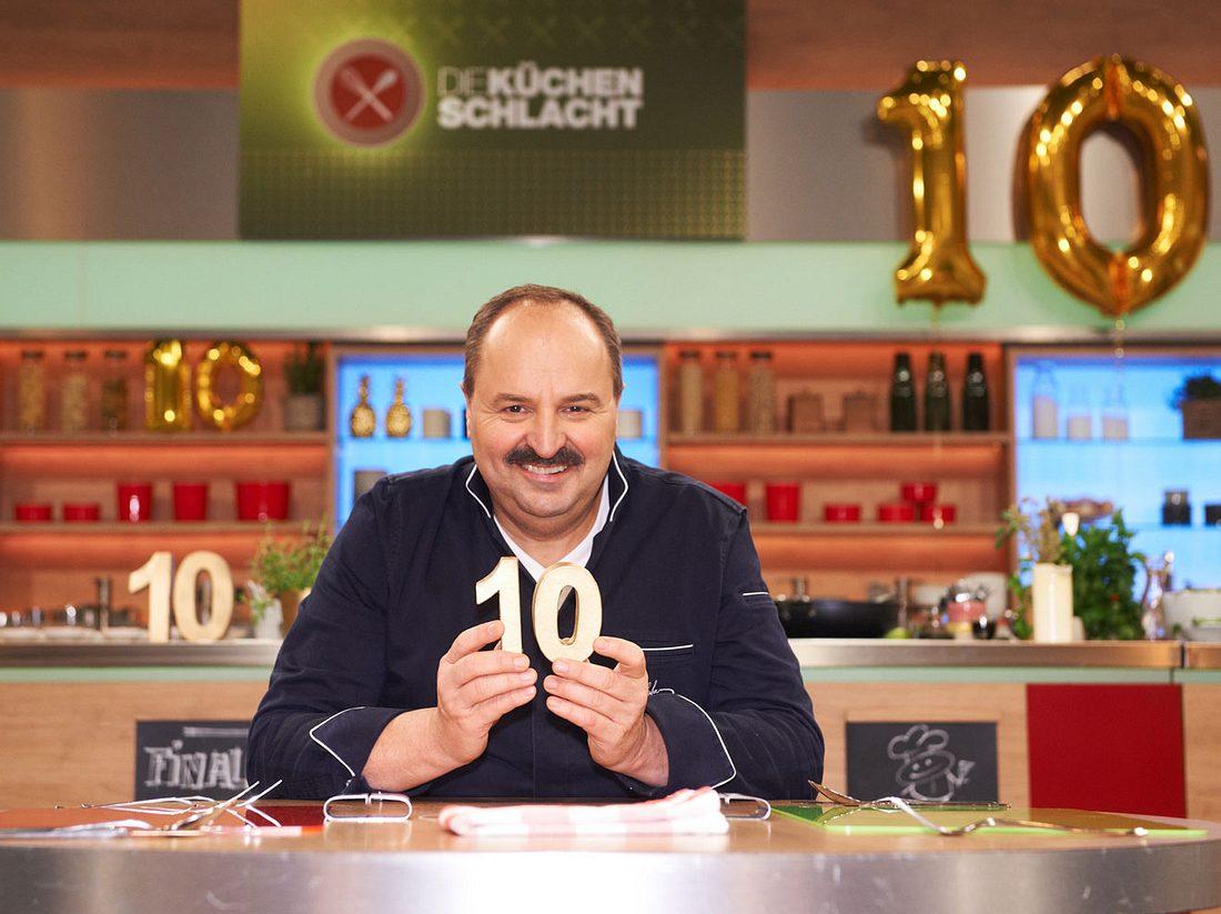 Johann Lafer moderiert die Jubiläumswoche zum 10. Geburtstag von Die Küchenschlacht.