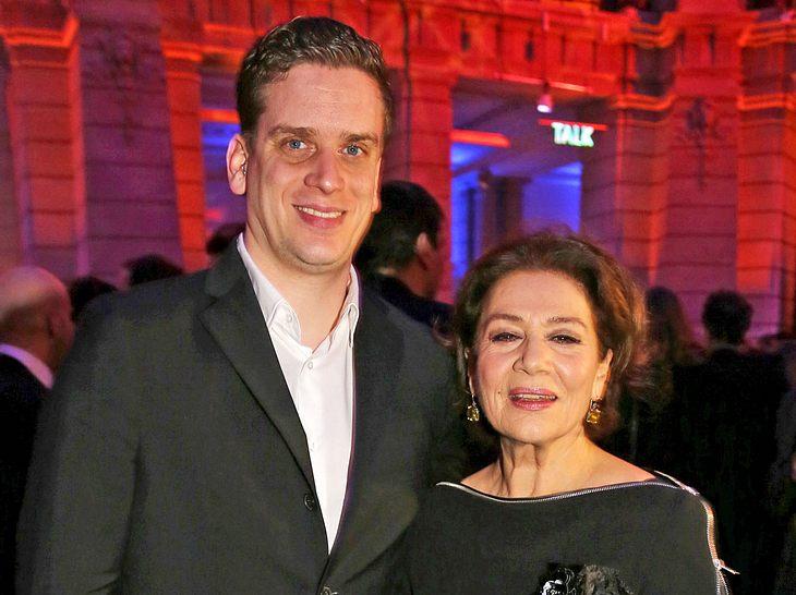 Hannelore Elsner mit ihrem Sohn Dominik im Jahr 2014.
