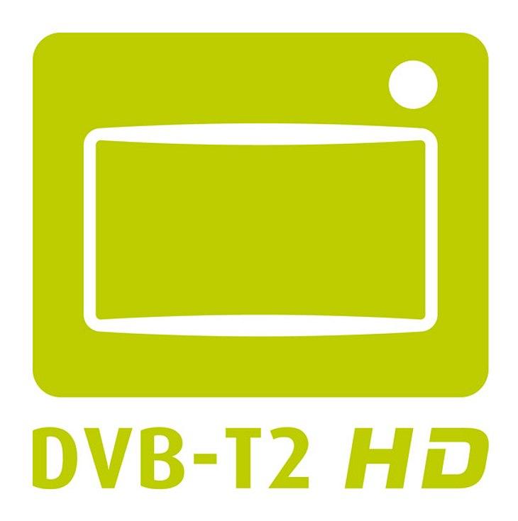 An diesem Logo erkennen Sie das DVB-T2-HD.