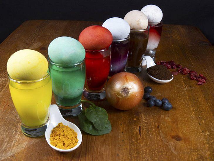 Eier färben: So geht es ohne Chemie