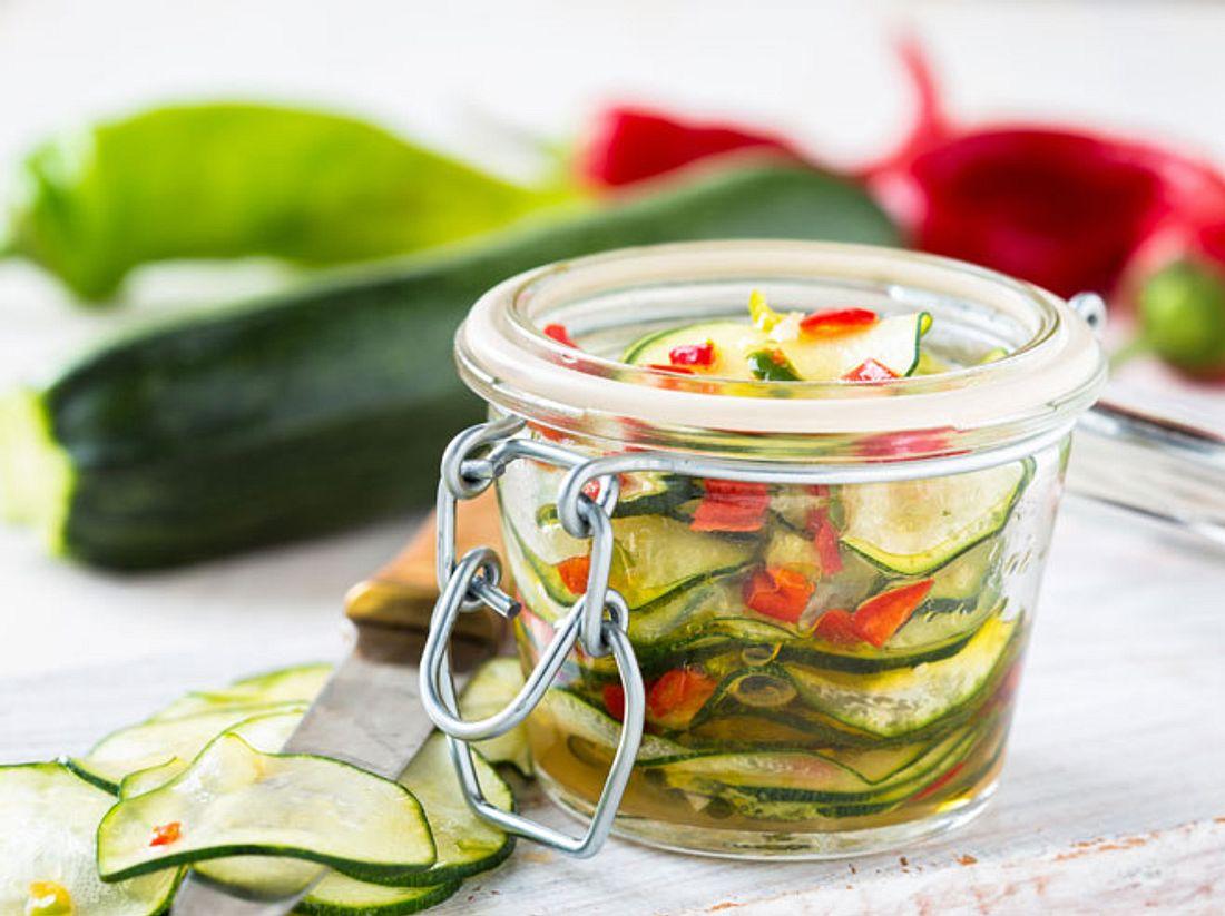 Rezept für eingelegte Zucchini