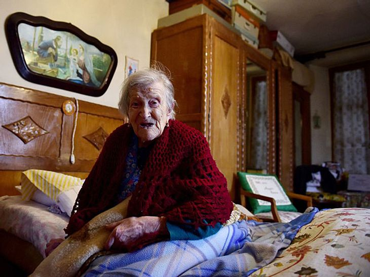 Emma Morano in ihrem Zuhause.