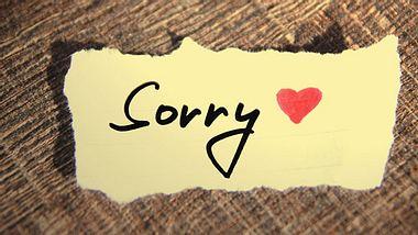 Muss ich mich für alles entschuldigen?