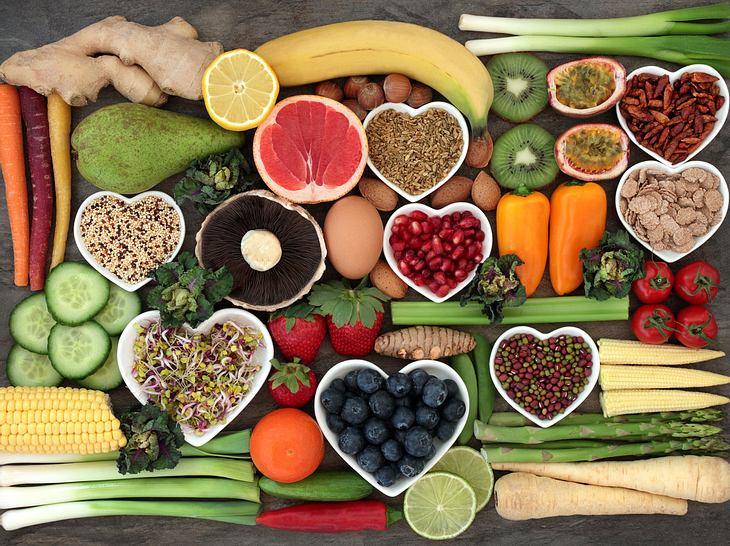 Gesunde Lebensmittel: Gemüse und Obst