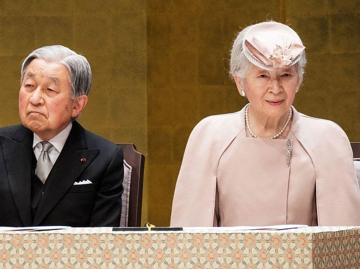 Ex-Kaiserin Michiko mit ihrem Ehemann Yoko Akihito.