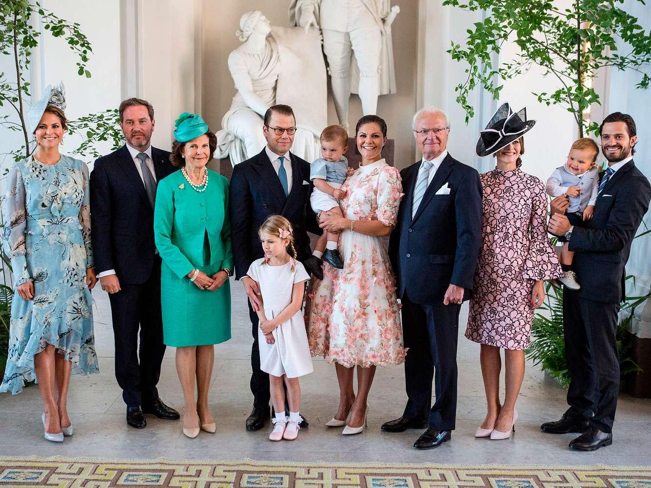 Familienfoto der schwedischen Royals anlässlich Kronprinzessin Victorias 40. Geburtstag.