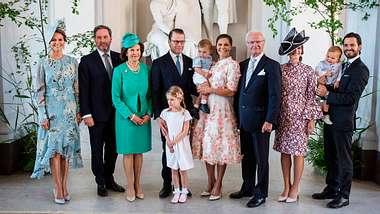 Familienfoto der schwedischen Royals anlässlich Kronprinzessin Victorias 40. Geburtstag. - Foto:  AFP Contributor/GettyImages