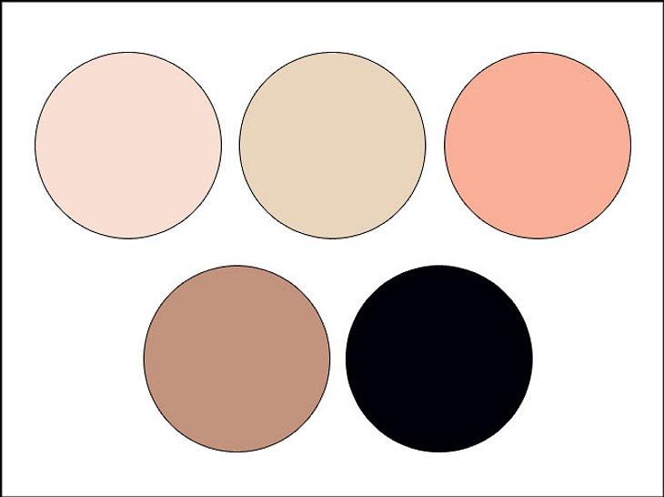 Mit Koralle, Schwarz und Weiß lassen sich tolle Farbkombinationen herstellen.