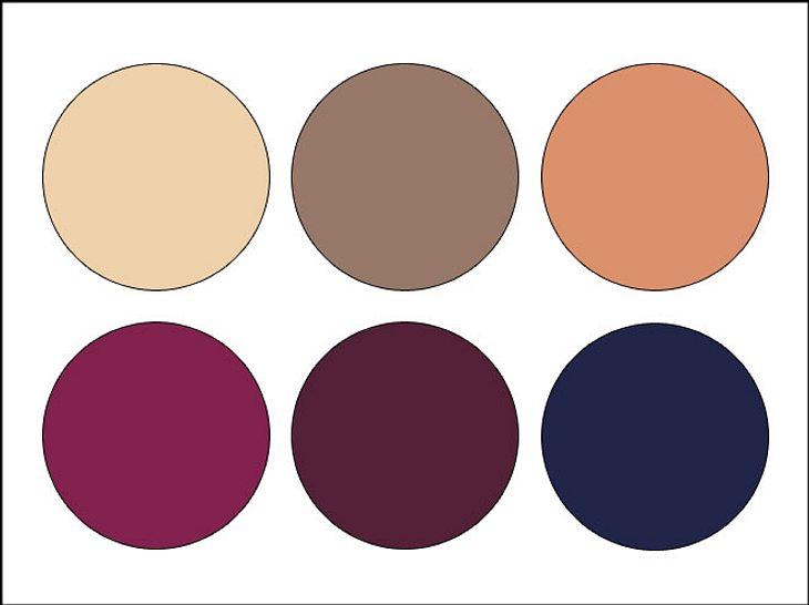 Mit verschiedenen Lila- und Brauntönen lassen sich schöne Farbkombinationen herstellen.