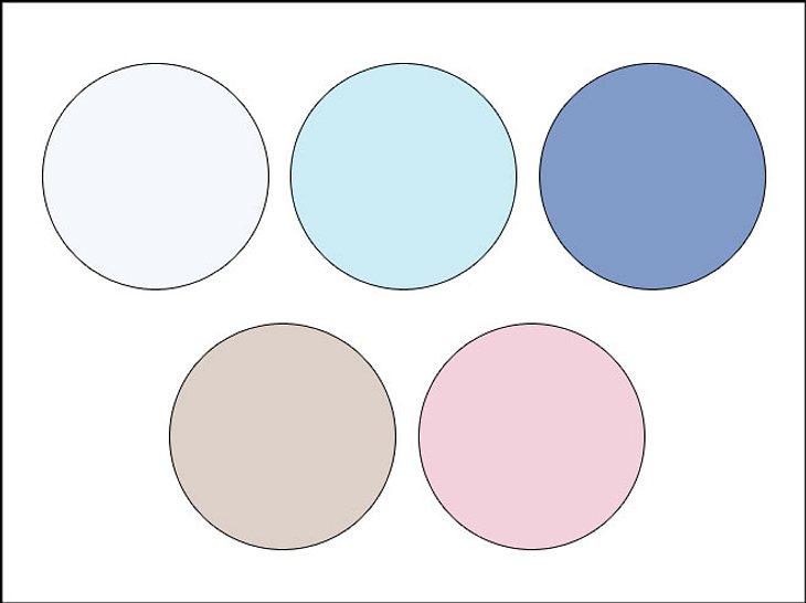Mit verschiedenen Pastelltönen lassen sich tolle Farbkombinationen herstellen.