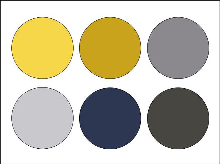 Mit Grau- und Senftönen lassen sich tolle Farbkombinationen herstellen.