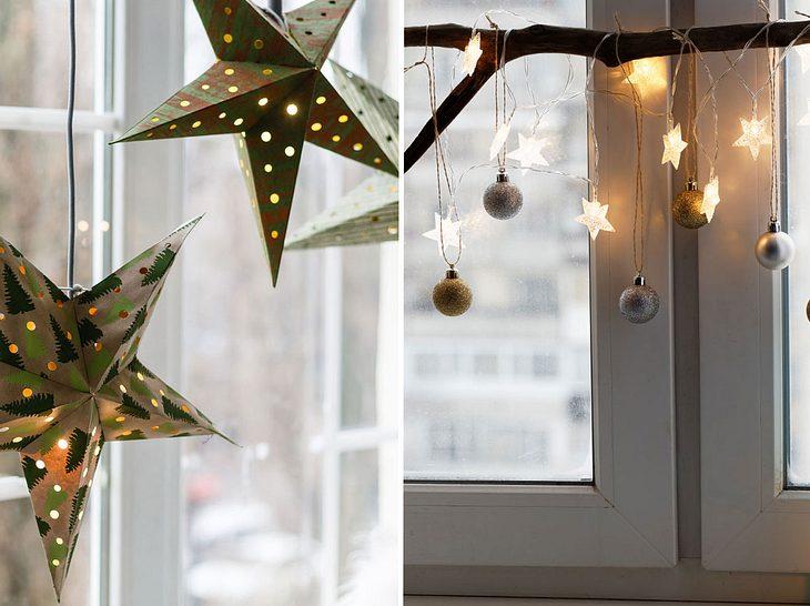 Fensterdekoration zu Weihnachten