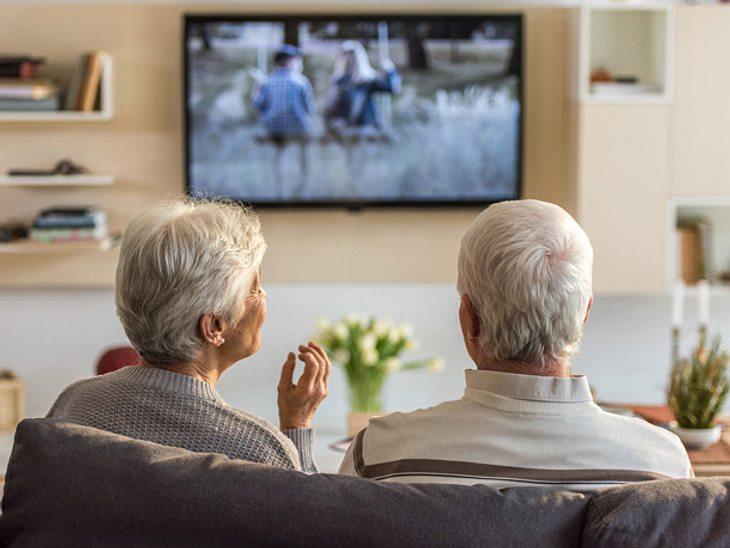 Älteres Paar Fernsehen, das ändert sich
