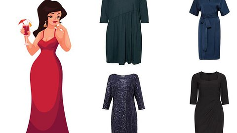 Festliche Kleider für mollige Frauen - Foto: sabelskaya / iStock / About You