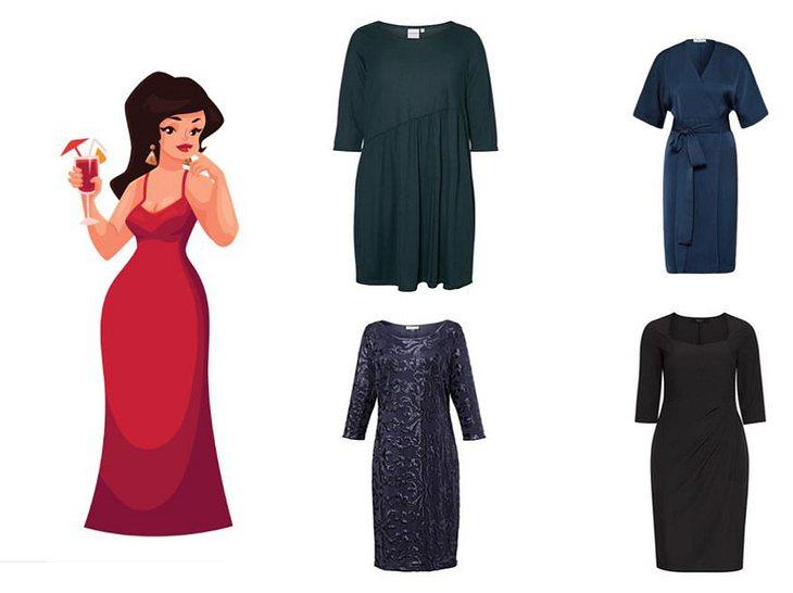 Festliche Kleider für mollige Frauen