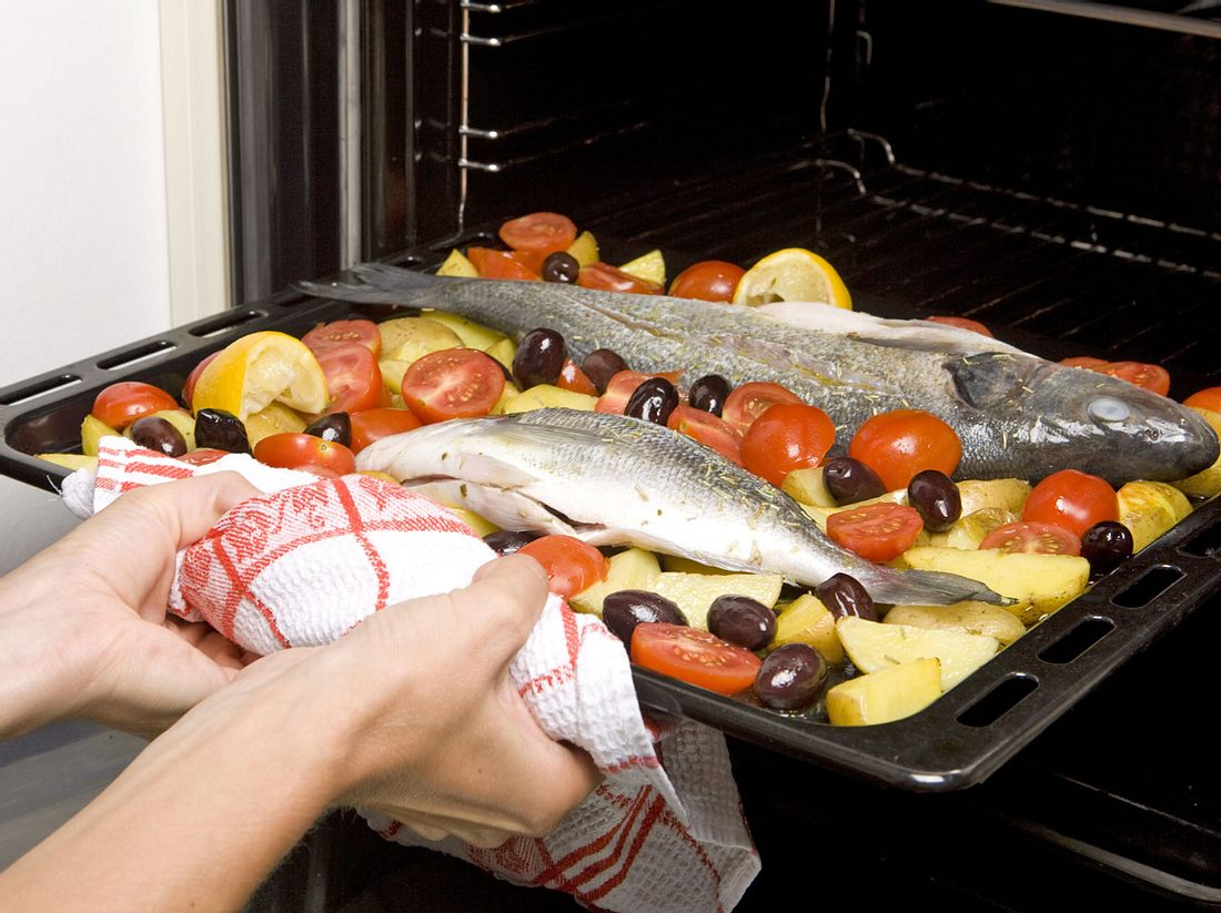 Lecker: Fisch aus dem Backofen.