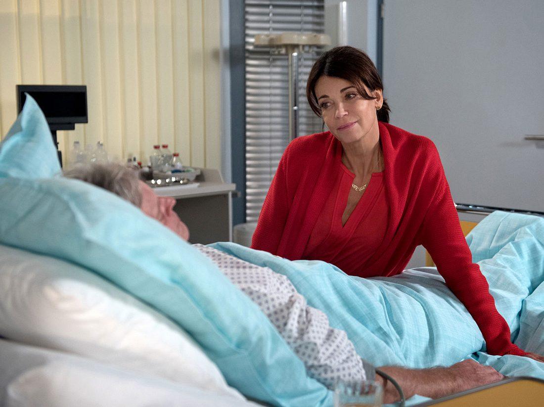 Rote Rosen: Frank ist nach seinem Herzinfarkt im Krankenhaus