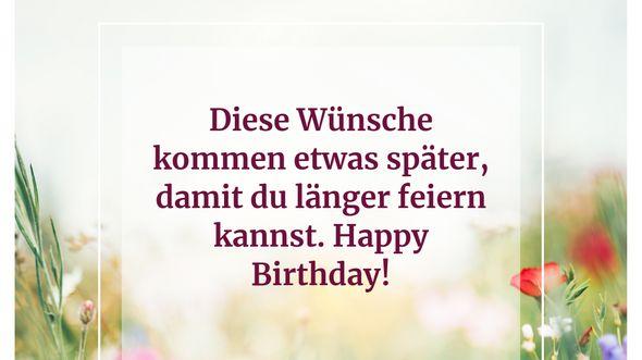 Diese Wünsche kommen etwas später, damit du länger feiern kannst. Happy Birthday! - Foto: iStock