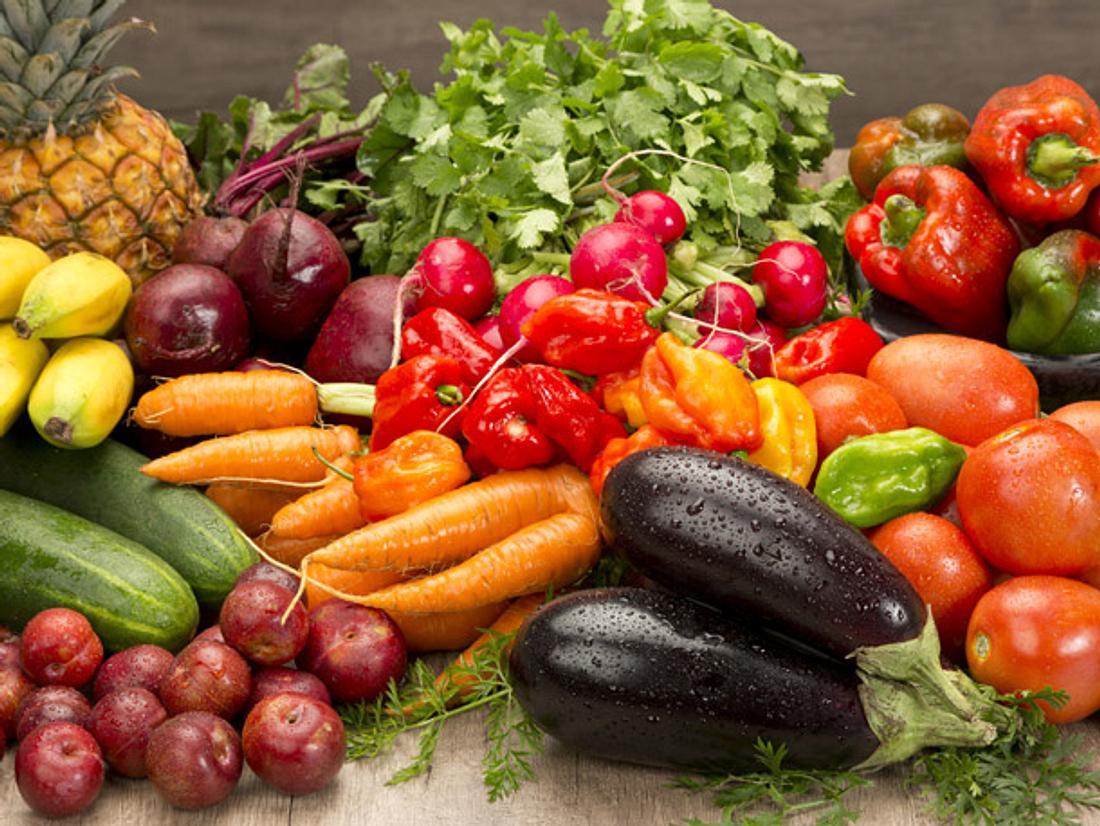 Verschiedenes Obst und Gemüse richtig lagern